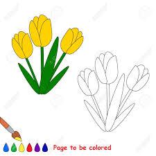 Coloriage Tulipe 1 Random Dessin Facile Poeleaboisorg