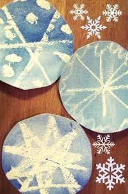 Magische Sneeuwvlokken Met Waskrijt En Waterverf