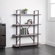 KSP Studio 4 Shelf Bookshelf Brown