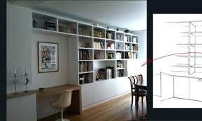 bureau bibliothèque intégré bibliotheque bureau integre meuble bibliotheque bureau integre 73
