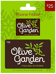 Amazon Olive Garden Holiday $25 Gift Card Gift Cards
