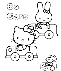 Kitty Coloring Sheets On Hello Pages 7 8