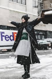 NYFW New York Fashion Week Fall Winter 17 Street Style Bomber Model