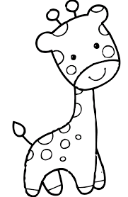 Giraffe With Funny Face Coloring Pages For Kids DcS Printable