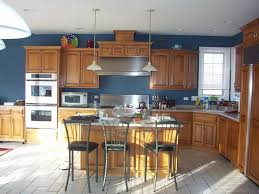 Kitchen Wall Paint Colors With Cherry Cabinets by Best 25 Blue Walls Kitchen Ideas On Pinterest Kitchen Wall
