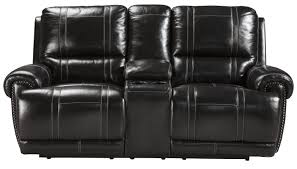 Darrin Leather Reclining Sofa With Console by Leather Double Recliner Homelegance Wallace Double Recliner Love