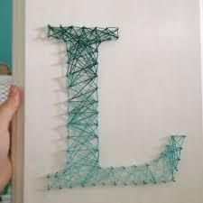 String Art Initials Via Etsy