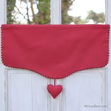 cantonniere pour cuisine cantonniere coeur cagne chic fabric ribbon