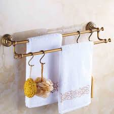 handtuchhalter bad wandmontage antik messing bad accessoires