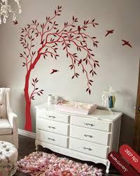 nursery willow tree wall decal birds wall tree sticker mural art