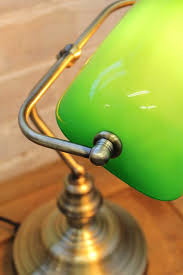 Bankers Lamp Green Glass Shade by Bankers Lamp With Green Shade In Antique Brass Vintage Task