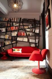 Red Living Room Ideas 2015 by White Wall Mounted Bookshelf Adhered On White Painted Wall Toward