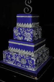 Wedding Cake Royal Blue And Silver Picture royal blue and silver wedding cake vow magic 398