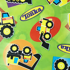 100 Tonka Truck Birthday Party Amazoncom S Bull Dozers Wrapping Paper Gift Wrap 25