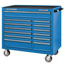 100 Service Truck Tool Drawers 44 In X 22 In Double Bank Blue Roller Cabinet