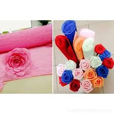 Chytaii Crepe Paper Roll For Flower Making Birthday Party Wedding Festival Decorations 50cm X