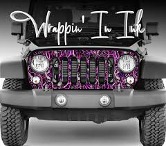 100 Camo Graphics For Trucks Jeep Pink Black Grill Wrap For 20072018 Wrangler Pink