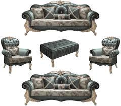 casa padrino luxus barock wohnzimmer set grün creme beige 2 sofas 2 sessel 1 couchtisch wohnzimmer möbel im barockstil edel prunkvoll