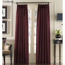 Purple Ruffle Curtain Panel by Marquee Flared Faux Silk Pinch Pleat Curtain Panels