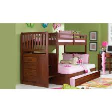 one merlot twin full staircase bunk bed merlot student desk with