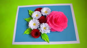 DIY Flower Bouquet Pop Up Card Paper Crafts Handmade Craft Wedding