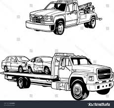 100 Tow Truck Vector Line Illustrations S SOIDERGI