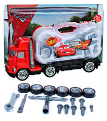 Cars Mack Truck With Tool Box Tools Kit Lightning McQueen 95 3+ AU