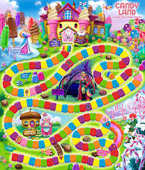 Candy Land Game Board1234