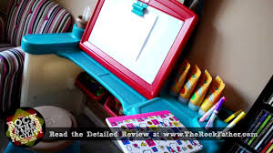 Step2 Deluxe Art Desk by Step2 Creative Studio Art Desk Review By The Rock Father Youtube