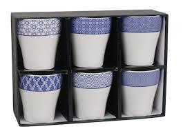 100 Design Studio 6 Tokyo Cups In A Gift Box NIPPON BLUE