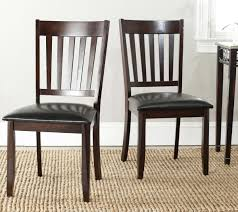 100 Black Leather Side Dining Chairs Safavieh SEA3004A HARVEY BLACK LEATHER SIDE CHAIRS SET OF TWO