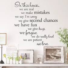 decorative words for walls in the house words walls plane wall saying stickers decorative