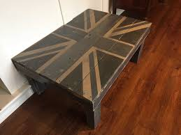 Union Jack Pallet Coffee Table O 1001 Pallets