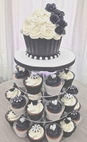 Blue And Yellow Wedding Cupcakes Beautiful Black & White Wedding Cupcake Tower With Giant Cupcake Top Cake