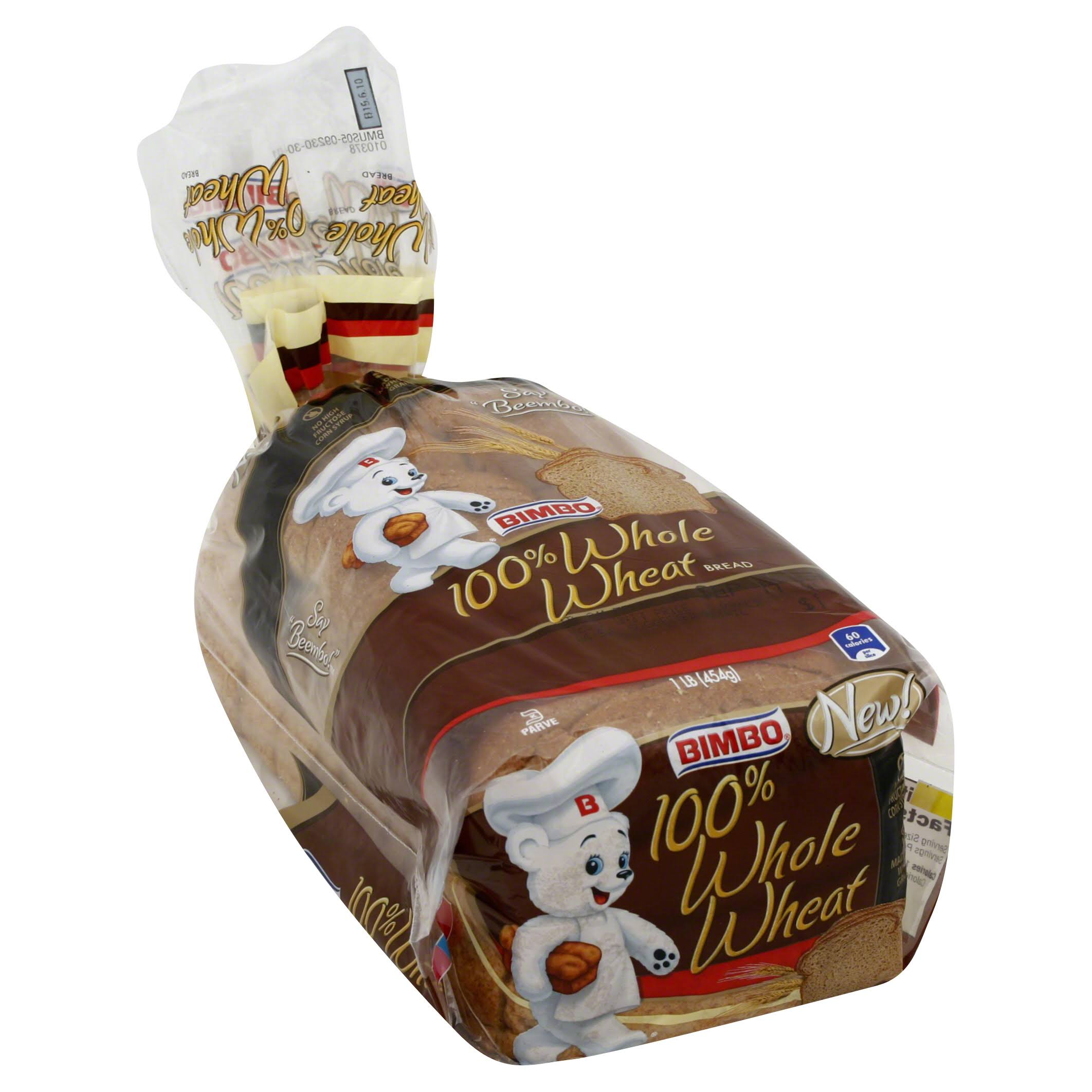 Bimbo 100 Percent Whole Wheat Bread - 16oz