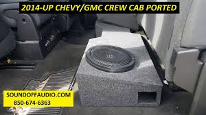 2014 CHEVY/GMC CREW CAB PORTED SPEAKER BOX - YouTube Custom Fitting Car And Truck Subwoofer Boxes 12 Inch Box For Best Resource Sub Dual Unloaded Enclosure 212truck I Want This Speaker Box For The Back Seat Only A Single Sub Though Universal Regular Cab Kicker Compc Cwcs12 Black Chevy Silverado Standard Gmc Sierra Speaker New Camaro 93 02 Coupe Single Drqc20actn Thunderform Amplified Dodge Ram Quad Cheap Homemade 4 Steps