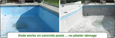 soda blasting paint removal pool tile cleaning