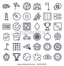 Game Icons Set Of 36 Outline Such As Field Joystick
