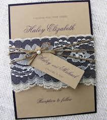 Rustic Wedding Invitation Lace Shabby Chic Kraft Suite DIY Kit Or Printable