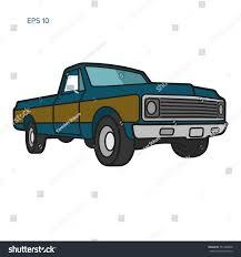 100 Old School Truck Vintage Pickup Vector Illustration School Stock Vector