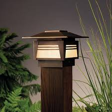 Wooden Outdoor Post Lighting Brown Simple Classic Motive Themes Personalized Collection