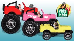 100 Biggest Monster Truck Big Bigger Jeep Timmy Sara Grandpa Uppet