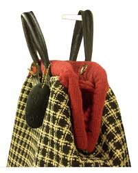 Chenille Carpet by Black And Beige Checked Chenille Carpet Bag With Red Trim And Red