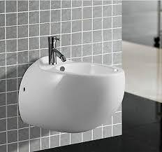 bidet dusch wc aus keramik in weiß wandhängend bd bad kreta bb 06 ebay