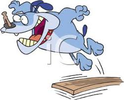 Clip Art Image A Dog Jumping Off Diving Board With Clothespin On His Nose