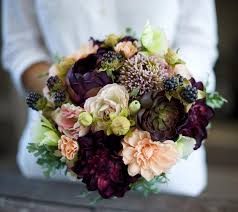 AMAZING Wedding Silk Succulent Peonies Dahlias And Berries Flower Bride Fall Rustic Bouquet