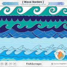 Wave Border Clip Art 12 inch Waves Water Clip Art Beach ClipArt