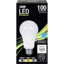 led a21 17 watt 100w equiv non dimmable 1600 lumens feit
