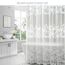 wasserdicht dusche vorhänge transparent blumen dusche
