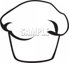 Black and White Muffin Clipart